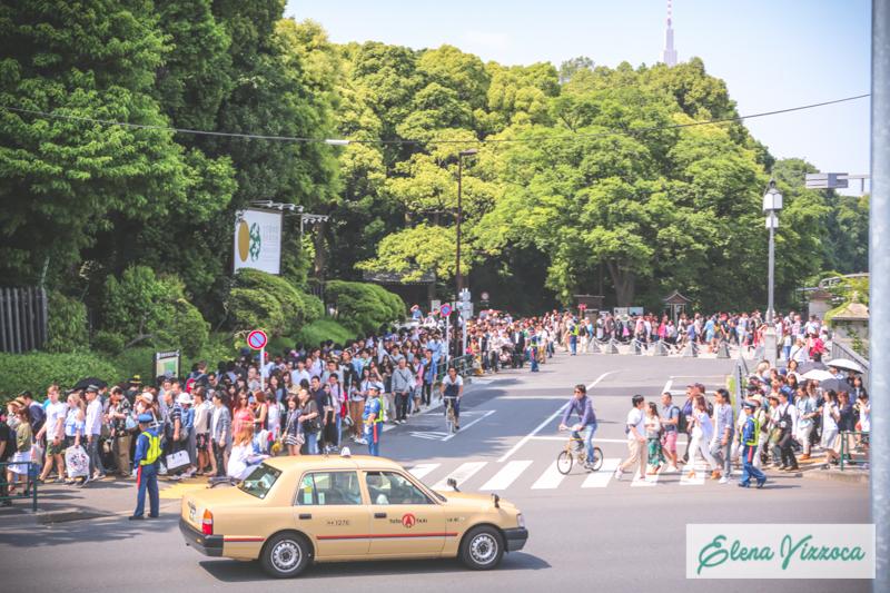 Fila per entrare al parco Yoyogi