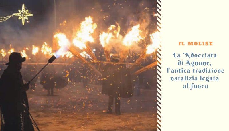 La 'Ndocciata di Agnone, l'antica tradizione natalizia legata al fuoco